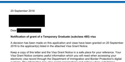 卒業ビザが降りた&これからすること